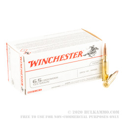 200 Rounds of 6.5 Creedmoor Ammo by Winchester USA - 125gr OT