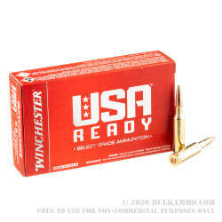 200 Rounds of 6.5 Creedmoor Ammo by Winchester USA Ready - 125gr OT
