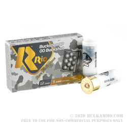 250 Rounds of 12ga Ammo by Rio -  00 Buck