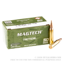 1000 Rounds of 5.56x45 Ammo by Magtech - 77gr HPBT Cannelured MatchKing
