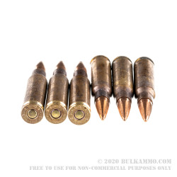 *Tarnished* 500 Rounds of 7.62x51mm Ammo by Lake City - 149 Grain FMJBT M80