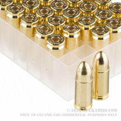 50 Rounds of 9mm Ammo by Fiocchi Perfecta - 115gr FMJ