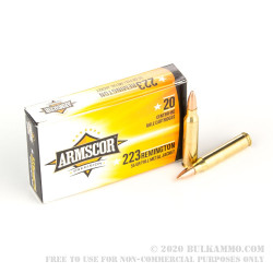 20 Rounds of .223 Ammo by Armscor - 55gr FMJBT
