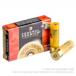 "250 Rounds of 20ga Ammo by Federal Premium - 2-3/4"" 3/4 ounce Rifled Slug"