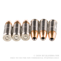 200 Rounds of 9mm Ammo by Federal Hydra-Shok Low Recoil - 135gr JHP