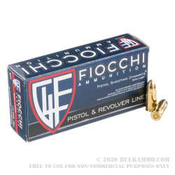 1000 Rounds of 9mm Ammo by Fiocchi - 115gr FMJ