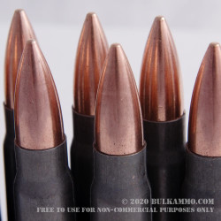 20 Rounds of 7.62x39mm Ammo by Tula - 124gr FMJ