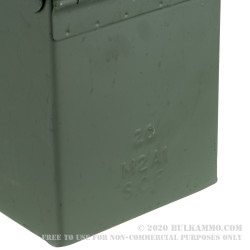 12 Brand New Mil-Spec 50 Cal M2A1 Green Ammo Cans