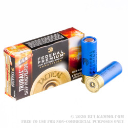 5 Rounds of 12ga Ammo by Federal LE Tactical - 1 ounce TRUBALL Deep Penetrator Rifled Slug