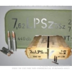 880 Rounds of 7.62x54r Ammo by Hungary - 147gr FMJ