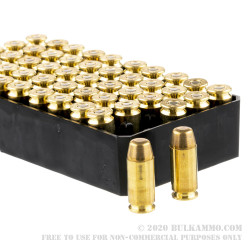 100 Rounds of .40 S&W Ammo by Remington - 180gr MC