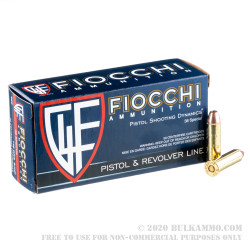 50 Rounds of .38 Spl Ammo by Fiocchi - 148gr SJHP