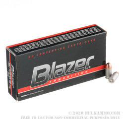 1000 Rounds of .380 ACP Ammo by Blazer - 95gr FMJ