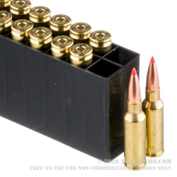 200 Rounds of 6.5mm Grendel  Ammo by Hornady Match - 123gr A-Max