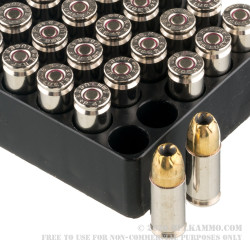 50 Rounds of 9mm +P Ammo by Remington Golden Saber - 124gr BJHP