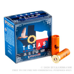 """25 Rounds of 12ga Ammo by Fiocchi - 2 3/4"""" 1 1/8 ounce #7 1/2 shot"""