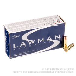 1000 Rounds of .38 Special +P Ammo by Speer Lawman Clean-Fire - 158gr TMJ