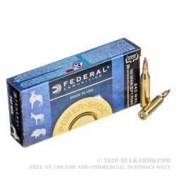 20 Rounds of .243 Win Ammo by Federal - 100gr SP