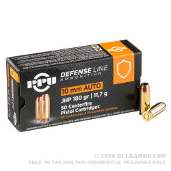 500 Rounds of 10mm Ammo by Prvi Partizan - 180gr JHP