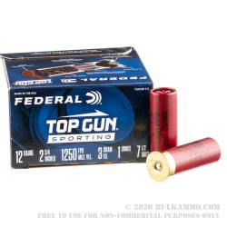 250 Rounds of 12ga Ammo by Federal Top Gun Sporting - 1 ounce #7-1/2 shot