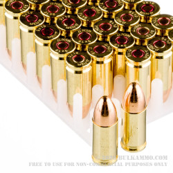 1000 Rounds of 9mm Ammo by MEN - 124gr FMJ