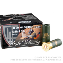 "250 Rounds of 12ga Ammo by Fiocchi High Velocity Hunting - 2-3/4"" 1 1/5 ounce #7 1/2 shot"
