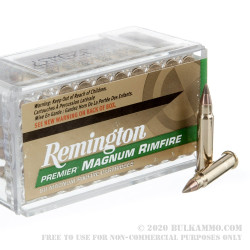 50 Rounds of .17HMR Ammo by Remington - 17gr Accutip