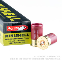 "20 Rounds of 12ga Ammo by Aguila Minishell - 1-3/4"" #4/#1 Buck Mix"