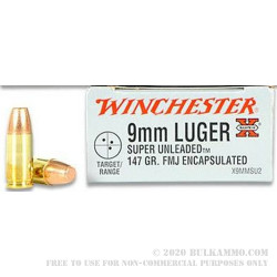 9mm 147 gr Super Unleaded Encapsulated Winchester Super X Ammo For Sale!