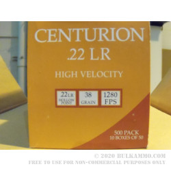5000 Rounds of .22 LR Ammo by Centurion - 38gr HP