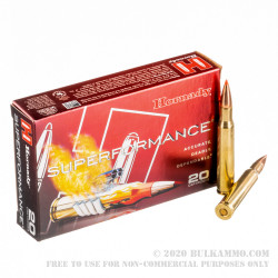 20 Rounds of 30-06 Springfield Ammo by Hornady - 180gr SST