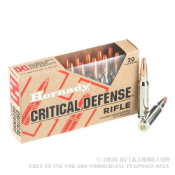 20 Rounds of .308 Win Ammo by Hornady Critical Defense - 155gr FTX
