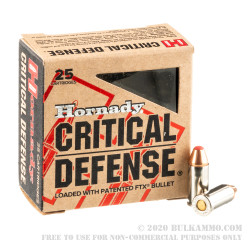 250 Rounds of .32 ACP Ammo by Hornady Critical Defense - 60gr FTX
