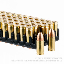 50 Rounds of 9mm NATO Ammo by Magtech - 124gr FMJ
