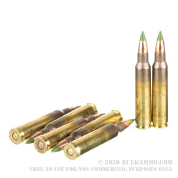 20 Rounds of 5.56x45 Ammo by Winchester - 62gr FMJ M855