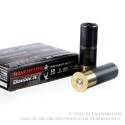 """5 Rounds of 12ga Ammo by Winchester Double-X - 3"""" 12-Pellet 00 Buck"""