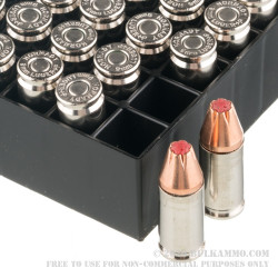 25 Rounds of 9mm + P Ammo by Hornady Critical Duty - 124gr Jacketed Hollow Point