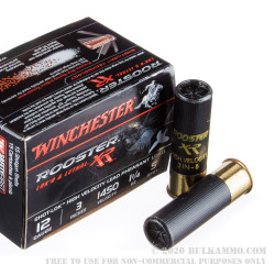 """15 Rounds of 12ga 3"""" Ammo by Winchester Rooster RX - 1-1/4 ounce #5 Shot"""