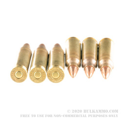 20 Rounds of 5.56x45 Ammo by Hornady Frontier - 55gr FMJ M193