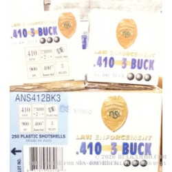 "250 Rounds of .410 Ammo by NobelSport -  .4"" Buck"