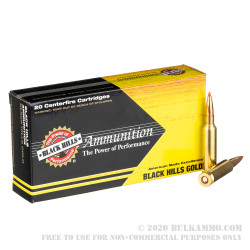 20 Rounds of 6.5 Creedmoor Ammo by Black Hills Gold - 120gr GMX