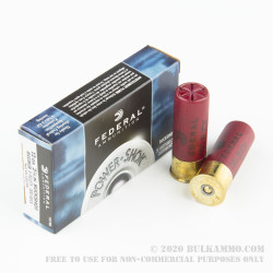 5 Rounds of 12ga Ammo by Federal -  000 Buck