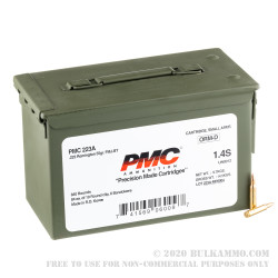 840 Rounds of .223 Ammo by PMC - Stripper Clip in Ammo Can - 55gr FMJBT