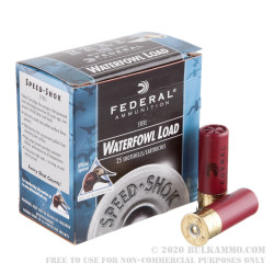"25 Rounds of 2-3/4"" 12ga Ammo by Federal Speed-Shok - 1 1/8 ounce #3 Shot"