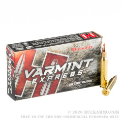 20 Rounds of .223 Ammo by Hornady - 40gr V-Max