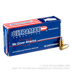 500 Rounds of .45 ACP Ammo by Ultramax Remanufactured - 200gr SWC