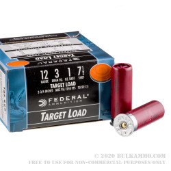 """250 Rounds of 12ga Ammo by Federal Top Gun - 2-3/4"""" 1 ounce #7 1/2 shot"""