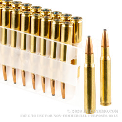 20 Rounds of 30-06 Springfield Ammo by Federal Power-Shok - 180gr SP