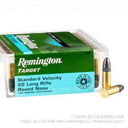 100 Rounds of .22 LR Ammo by Remington Target - 40gr LRN