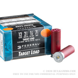250 Rounds of 12ga Ammo by Federal Top Gun - 1 1/8 ounce #7 1/2 shot